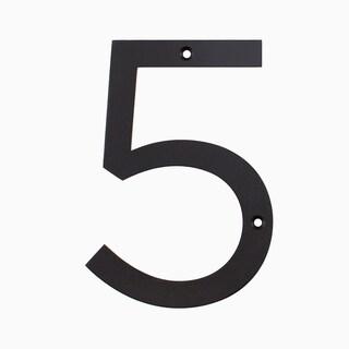 """Maykke Hugo Stainless Steel House Number """"5"""""""