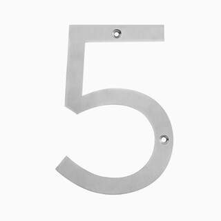 "Maykke Hugo Stainless Steel House Number ""5"""