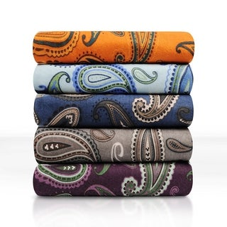 Deep Pocket Paisley Flannel Sheet & Pillowcase Set