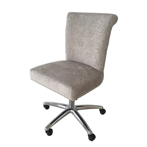 shop felicia home office chair grey confetti chenille free