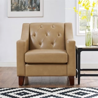 Avenue Greene Everest Taupe Tufted Back Track Arm Chair