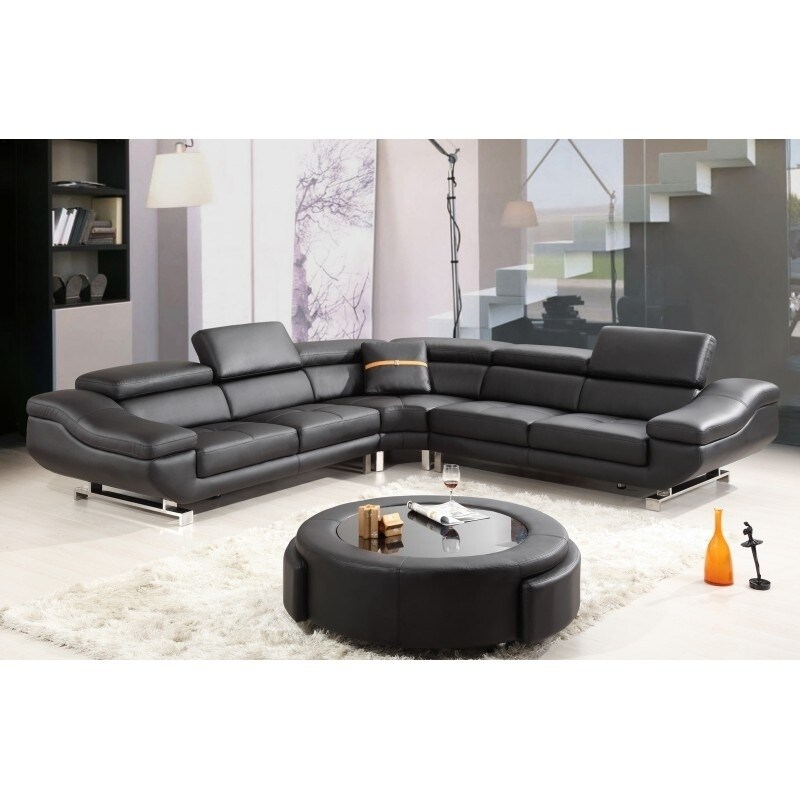 Best Quality Furniture 4 Piece Leather Sectional Sofa Set