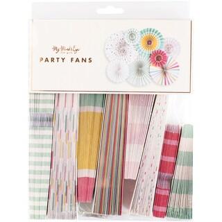 Hooray Party Fans 8/Pkg
