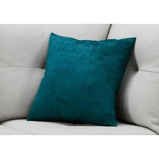 """Pillow - 18""""X 18"""" / Turquoise Brushed Velvet / 1Pc"""