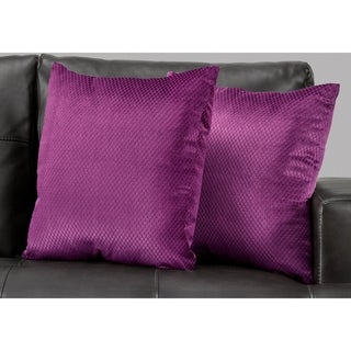 "Pillow - 18""X 18"" / Purple Diamond Velvet / 2Pcs"