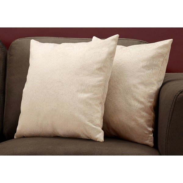 Shop Pillow 18 Quot X 18 Quot Light Taupe Feathered Velvet