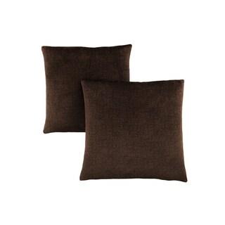 "Pillow - 18""X 18"" / Dark Brown Mosaic Velvet / 2Pcs"