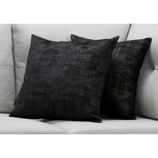 "Pillow - 18""X 18"" / Black Brushed Velvet / 2Pcs"