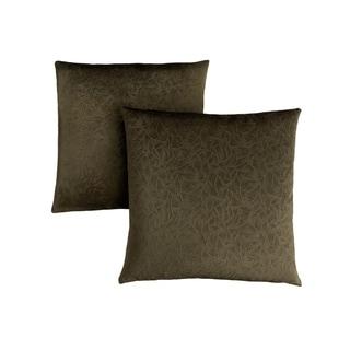 """Pillow - 18""""X 18"""" / Dark Green Floral Velvet / 2Pcs"""