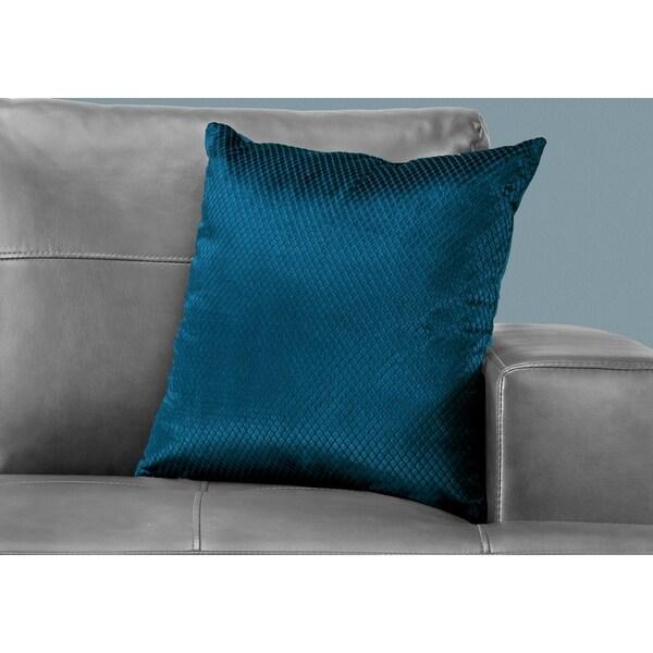 Shop Pillow 18 Quot X 18 Quot Steel Blue Diamond Velvet 1pc