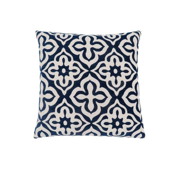 """Pillow - 18""""X 18"""" / Dark Blue Motif Design / 1Pc"""
