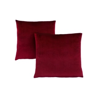 "Pillow - 18""X 18"" / Burgundy Diamond Velvet / 2Pcs"