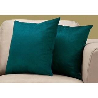 """Pillow - 18""""X 18"""" / Emerald Green Mosaic Velvet / 2Pcs"""