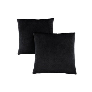 "Pillow - 18""X 18"" / Black Mosaic Velvet / 2Pcs"