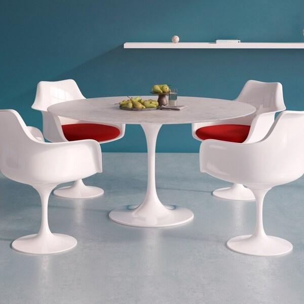 Shop Aeon Furniture Catalan Round 54 Inch Dining Table Italian