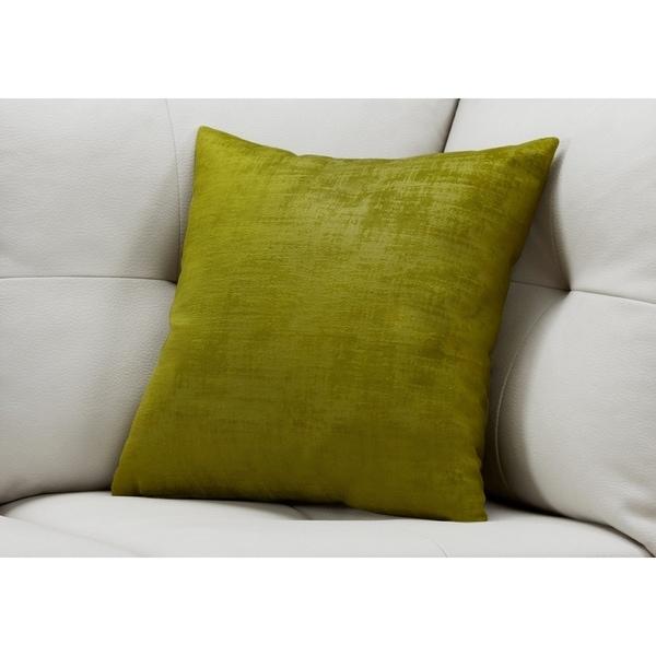 """Pillow - 18""""X 18"""" / Lime Green Brushed Velvet / 1Pc"""