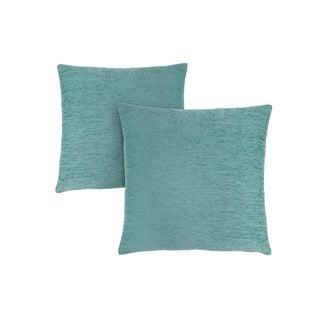 """Pillow - 18""""X 18"""" / Solid Aqua / 2Pcs"""