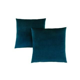"""Pillow - 18""""X 18"""" / Steel Blue Diamond Velvet / 2Pcs"""