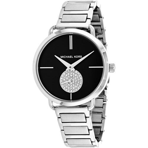 7256a26d013e Shop Michael Kors Women s Portia Watches - Free Shipping Today - Overstock  - 18227523