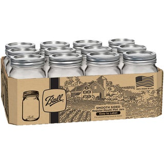 Ball Regular Mouth Canning Jars 12/Pkg