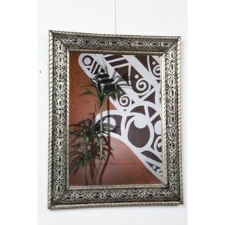 Oasis Silvertone Wall Mirror
