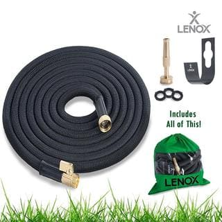 Lenox ALTYG0650B Expandable Water Hose 50ft Heavy Duty Latex Solid ON/OFF Brass Valve Connector (3 colors) (Option: Orange)|https://ak1.ostkcdn.com/images/products/18227823/P24368307.jpg?impolicy=medium