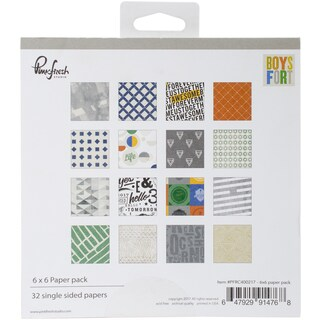 "Pinkfresh Studio Single-Sided Paper Pack 6""X6"" 32/Pkg"