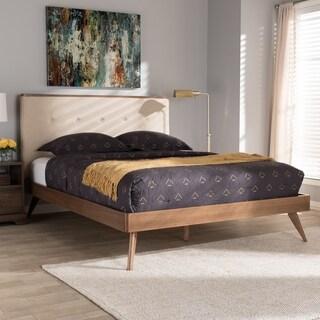 Baxton Studio Beige Fabric Platform Bed