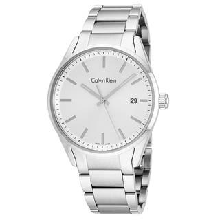 Calvin Klein Men's K4M21146 'Formality' Silver Dial Stainless Steel Swiss Quartz Watch|https://ak1.ostkcdn.com/images/products/18227850/P24368369.jpg?impolicy=medium