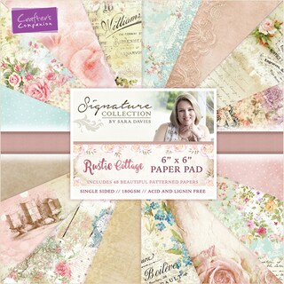 """Crafter's Companion Single-Sided Paper Pad 6""""X6"""" 48/Pkg