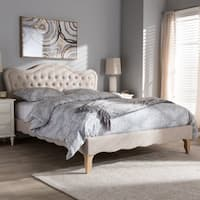 Maison Rouge Thompson French Province Style Fabric Platform Bed