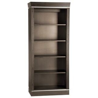 Voelkel Classic Collection Dark Oak Finish 5-Shelf Open Wide Bookcase