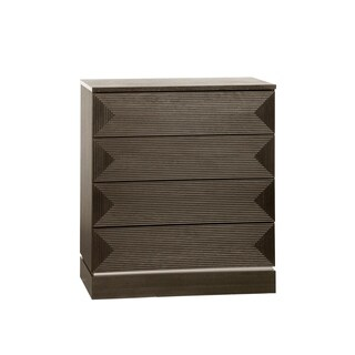 Voelkel Classic Collection Dark Oak Finish Four Drawer Chest
