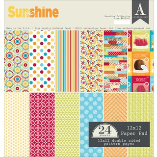 """Authentique Double-Sided Cardstock Pad 12""""X12"""" 24/Pkg"""