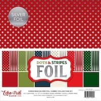 Echo Park Dot&St Silver Foil Combo Coll Kit 12x12