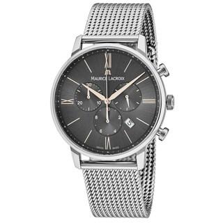 Maurice Lacroix Men's EL1098-SS002-311 'Eliros' Grey Dial Stainless Steel Chronograph Swiss Quartz Watch