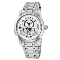 Mont Blanc Men's 107068 'Nicolas Rieussec' Silver Dial Stainless Steel Chronograph Home Time Swiss Automatic Watch