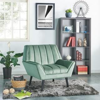 Carson Carrington Abytorp Turquoise Blue Velvet Arm Chair