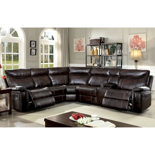 Nicole Brown Large 6 Piece Family Sectional With 3