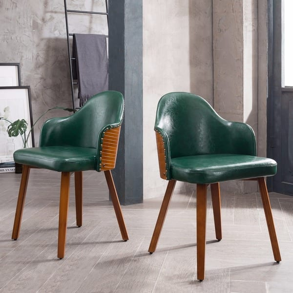 Astounding Corvus Metz Mid Century Bamboo Accent Chair Set Of 2 Gamerscity Chair Design For Home Gamerscityorg