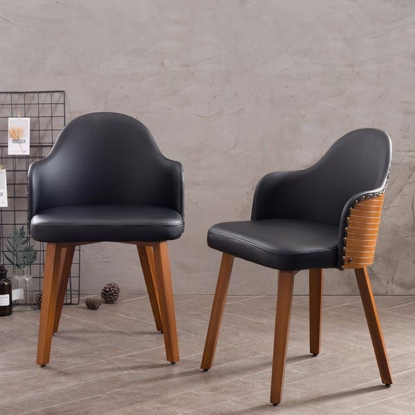 Tremendous Corvus Metz Mid Century Bamboo Accent Chair Set Of 2 Gamerscity Chair Design For Home Gamerscityorg