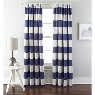 French Impression Stripe Blackout Curtain Panel