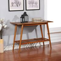 Linon Meade Brown-wood-finished Wood, Veneer, and Metal Console Table