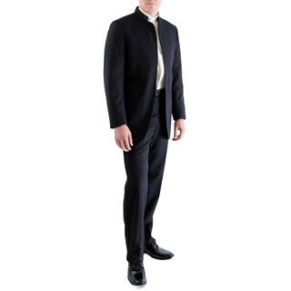 Ferrecci Mens Satin Mandarin Collar 2pc Tuxedo - Slacks & Jacket