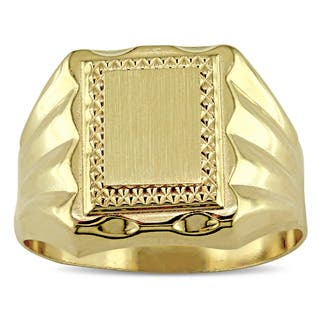Miadora Signature Collection 18k Yellow Gold Men's Engraveable Signet Ring|https://ak1.ostkcdn.com/images/products/18228161/P24368593.jpg?impolicy=medium