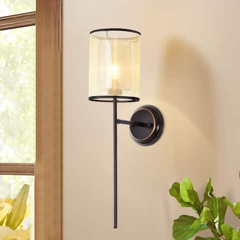 Zeynab 1-Light Shaded Wall Sconce
