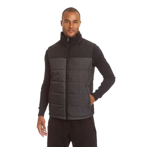 Champion Men's Big and Tall Herringbone Quilted Puffer Vest