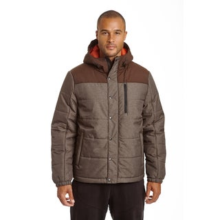 Champion Men's Big and Tall Herringbone Quilted Puffer with Hood
