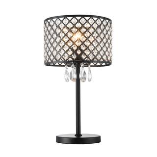 Crystal table lamps for less overstock ekua 1 light metal and crystal shade table lamp aloadofball Image collections