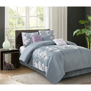Izalia Isabel Grey 7-piece Comforter Set